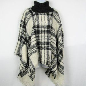 Angelina Woven Turtle Neck Sweater Poncho